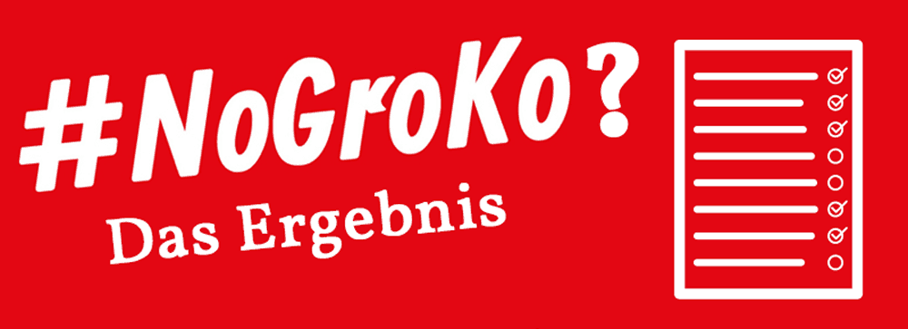 Das Ergebnis zur GroKo Umfrage