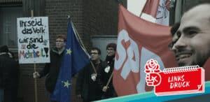 linksdruck hufeisen antifaschismus